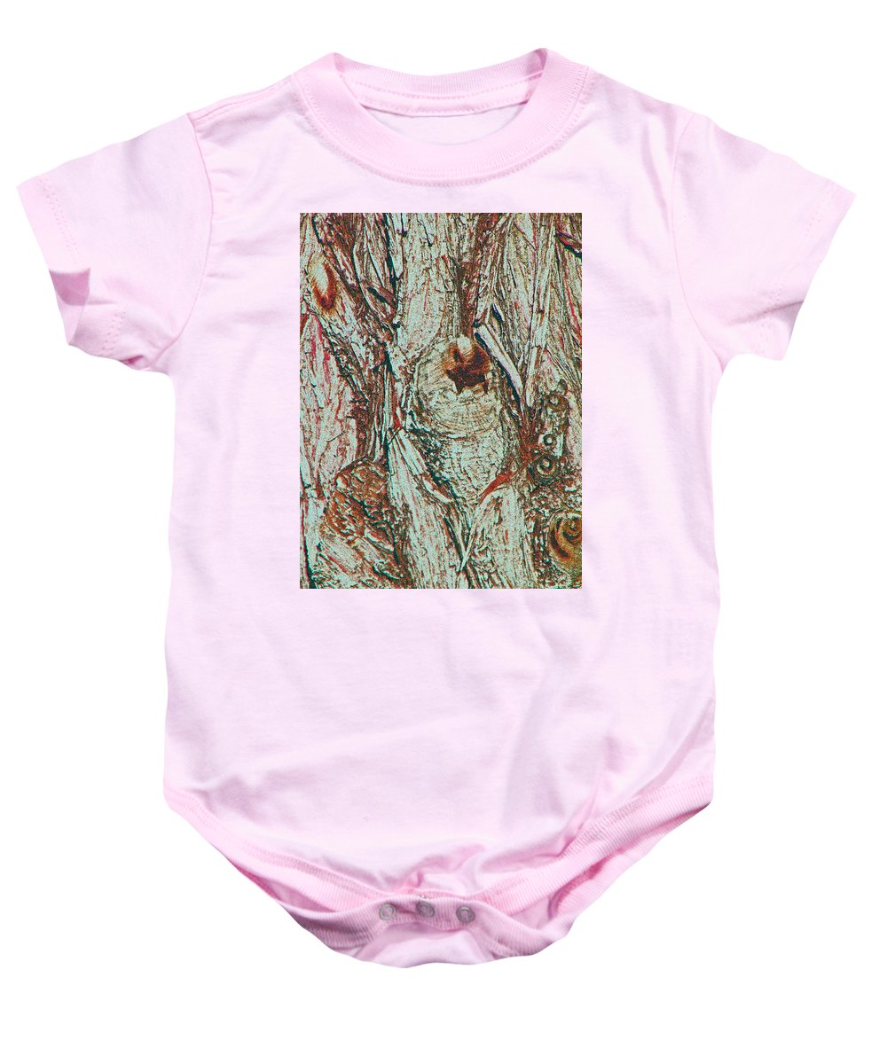Abstract Baby Onesie featuring the photograph Hiding Figures by Lenore Senior