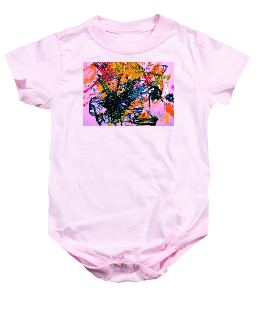 Abstract Baby Onesie featuring the painting Intrigue by Natalie Holland