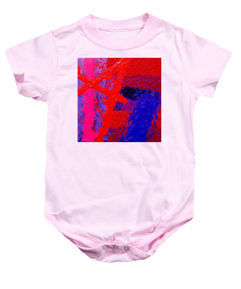Abstract Baby Onesie featuring the painting Jazz Process Vi by John Nolan