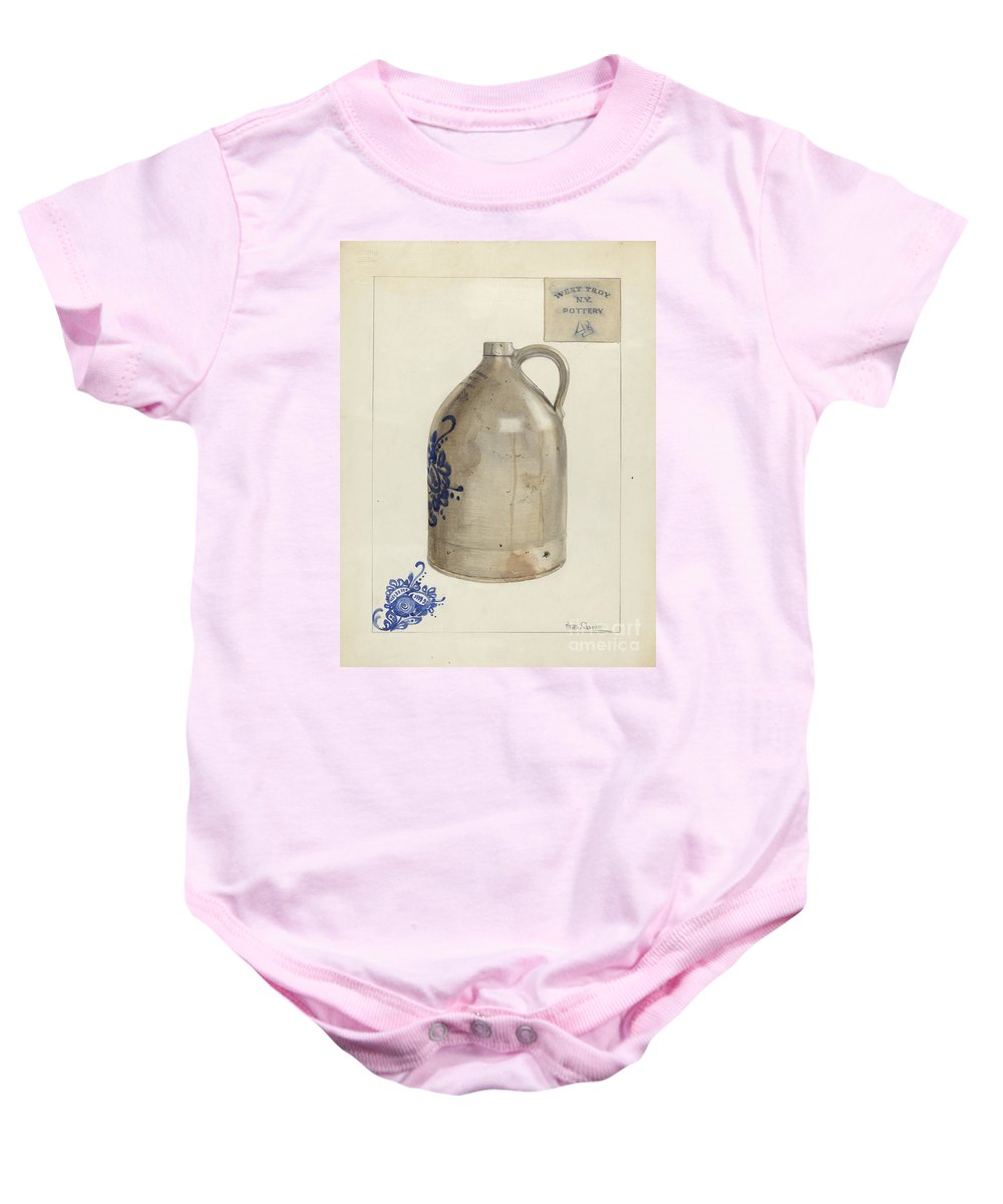 Baby Onesie featuring the drawing Jug by Charles Caseau