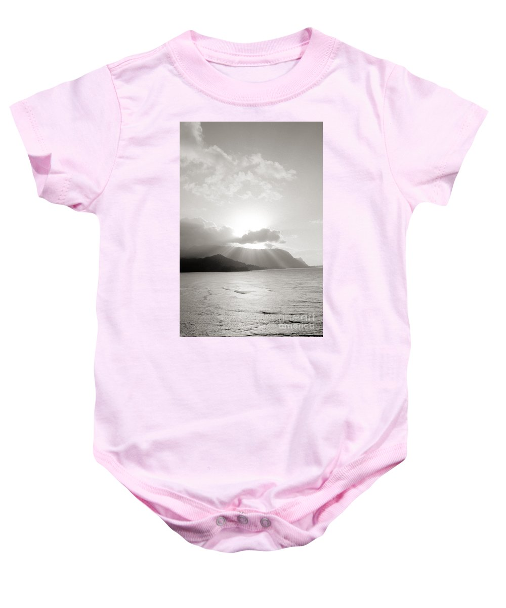 Art Medium Baby Onesie featuring the photograph Kauai Sunset by Joe Carini - Printscapes