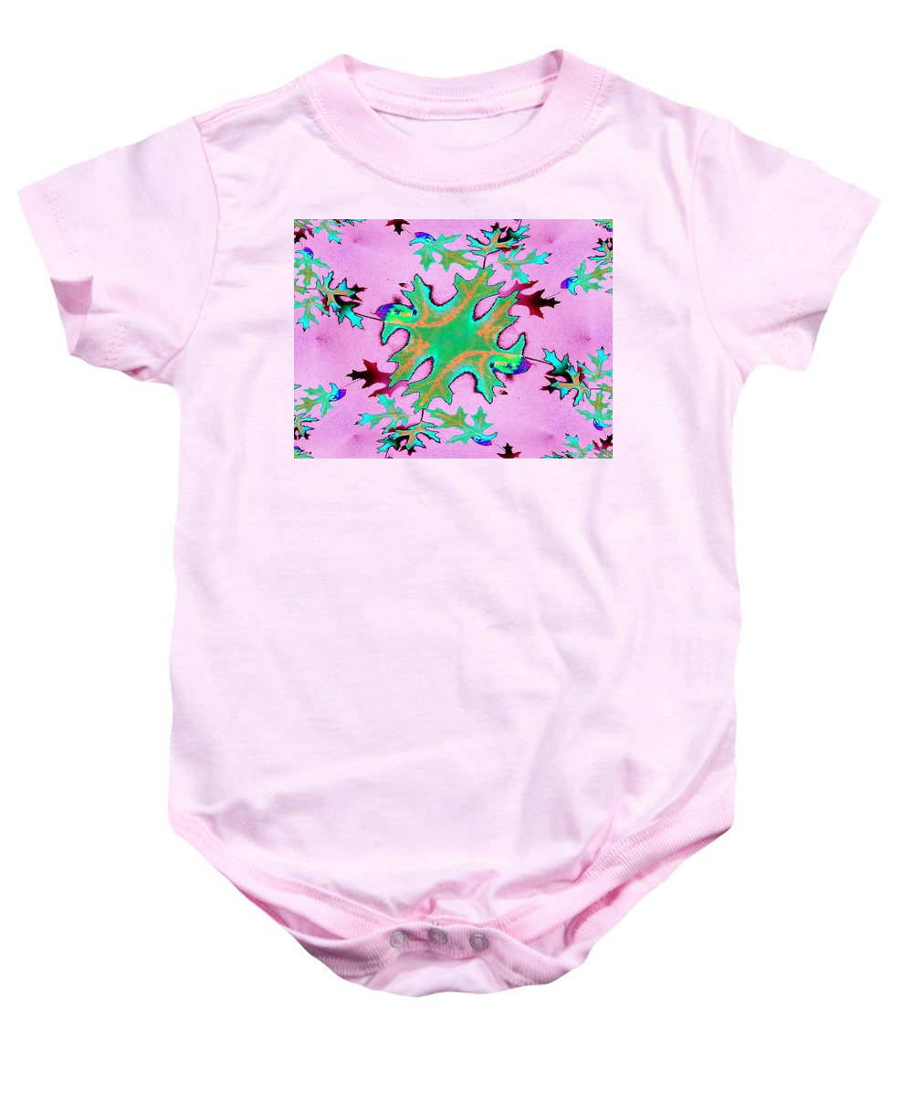 Leaf Baby Onesie featuring the photograph Leaves In Fractal by Tim Allen