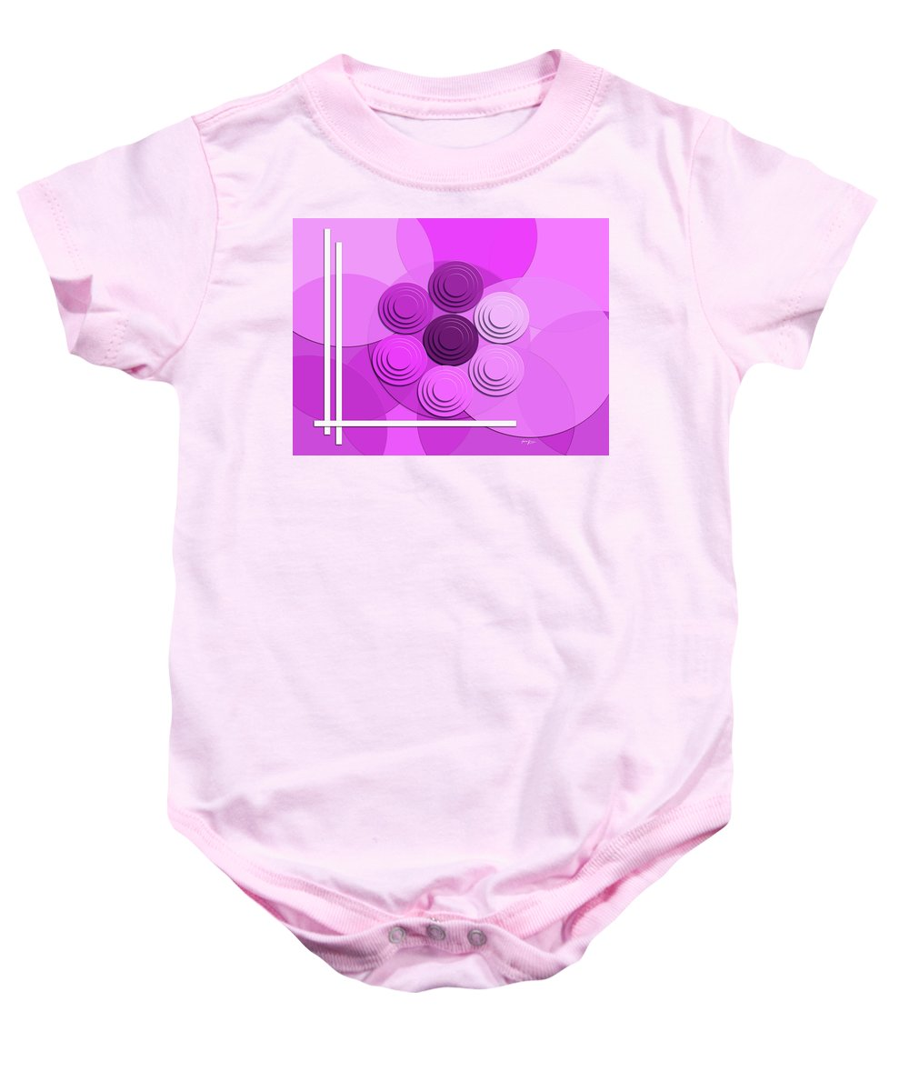 Abstract Baby Onesie featuring the digital art Lilac Bouquet by Laura Greco