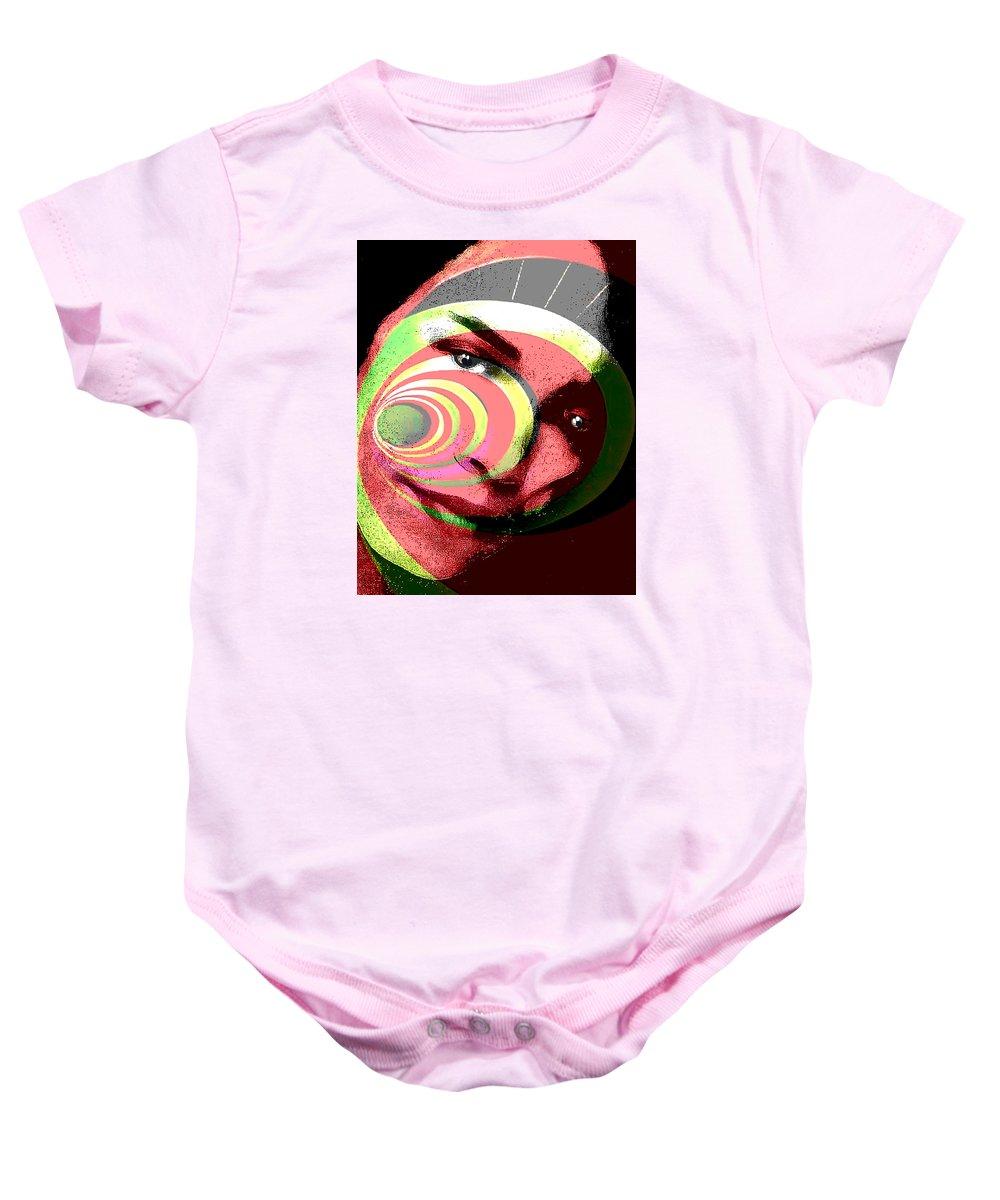 Portrait Baby Onesie featuring the drawing Lisa by Philip Gresham