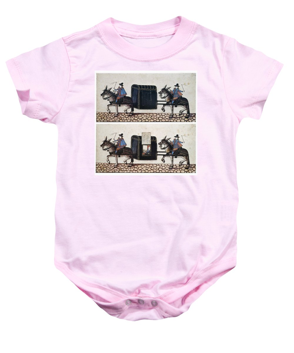 Equestrian Baby Onesie featuring the photograph Litter: Early 17th Century by Granger