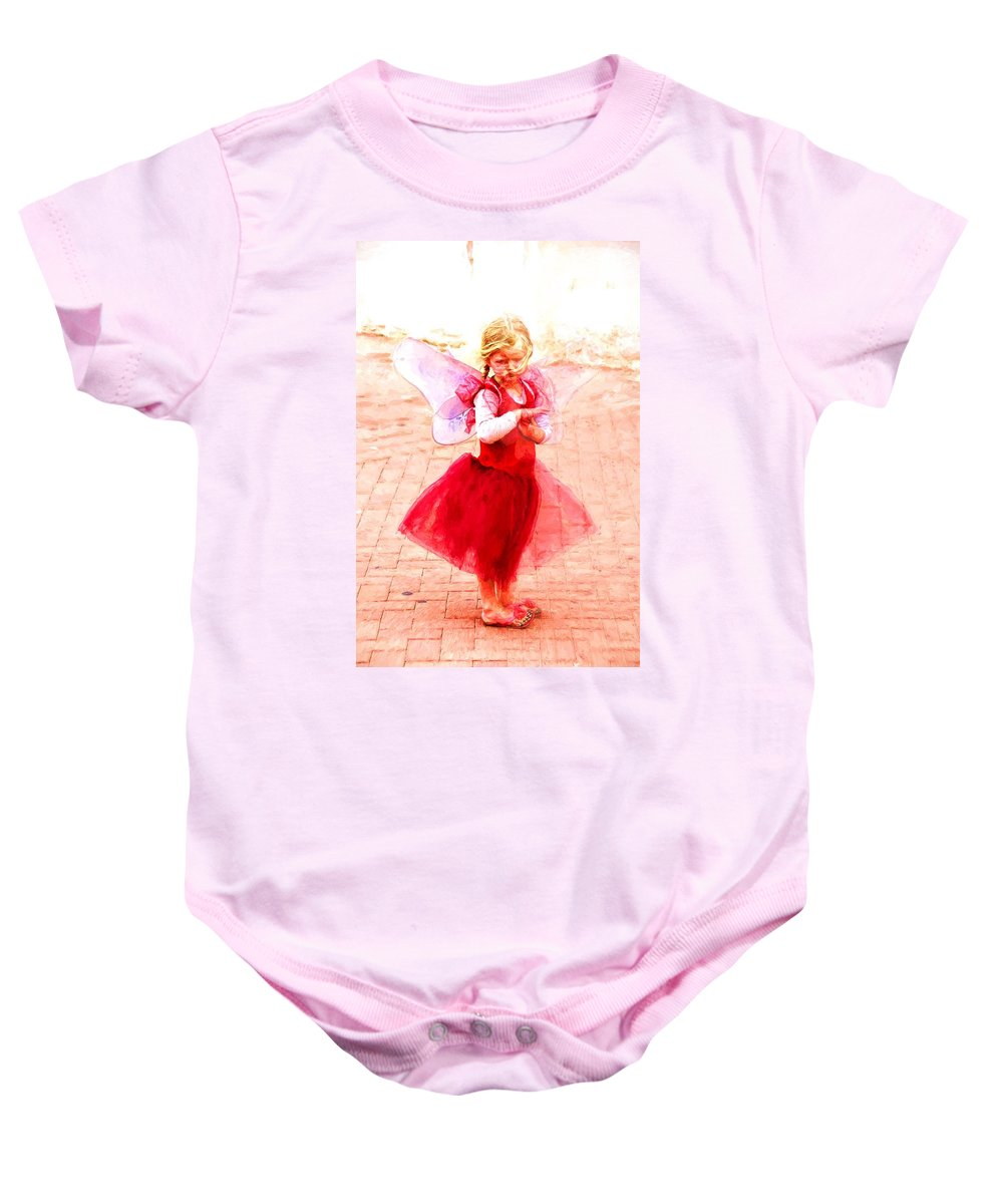 Angel Baby Onesie featuring the photograph Little Angel Wings by Alice Gipson