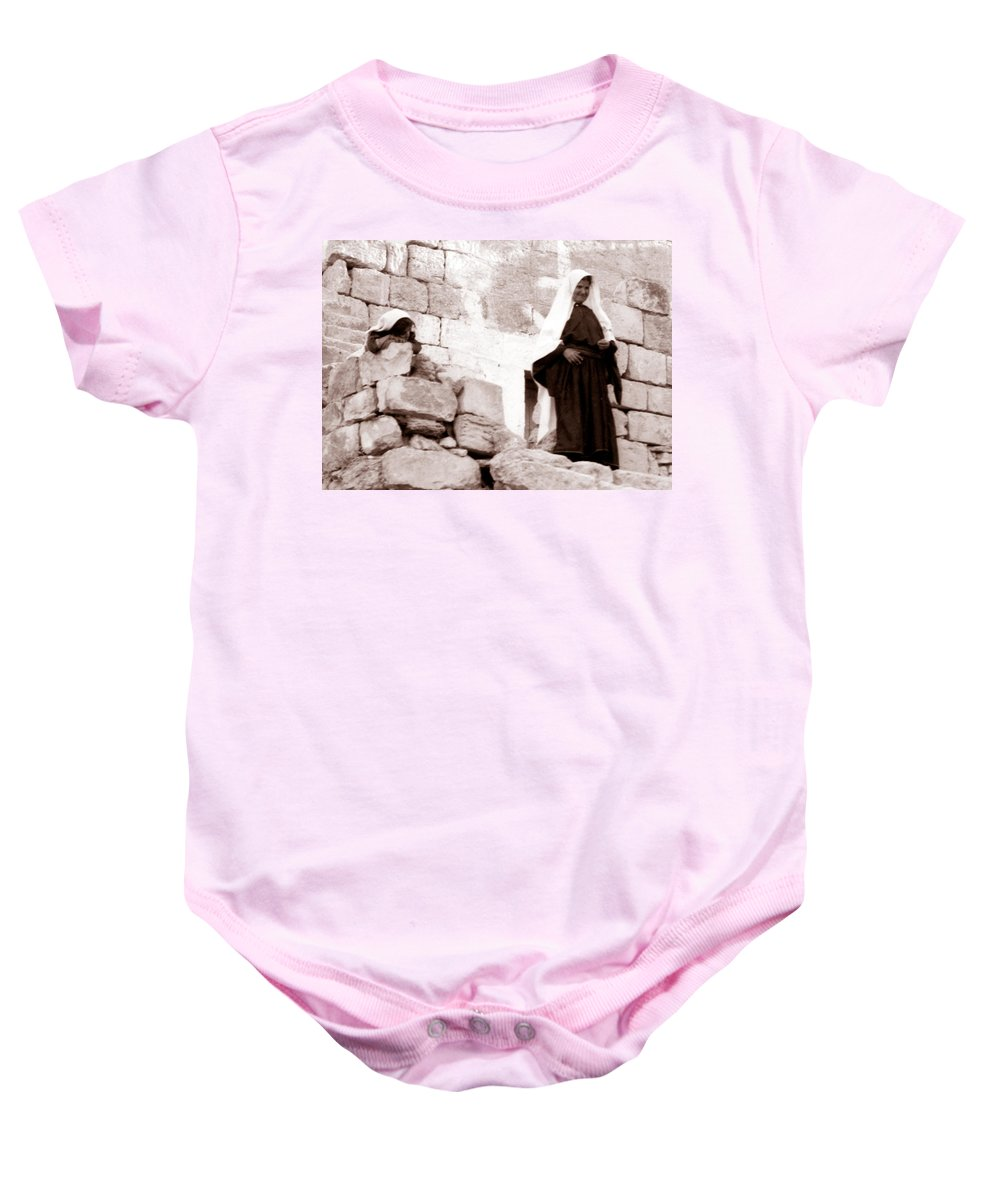 Bethlehem Baby Onesie featuring the photograph Little Girl In 1946 by Munir Alawi