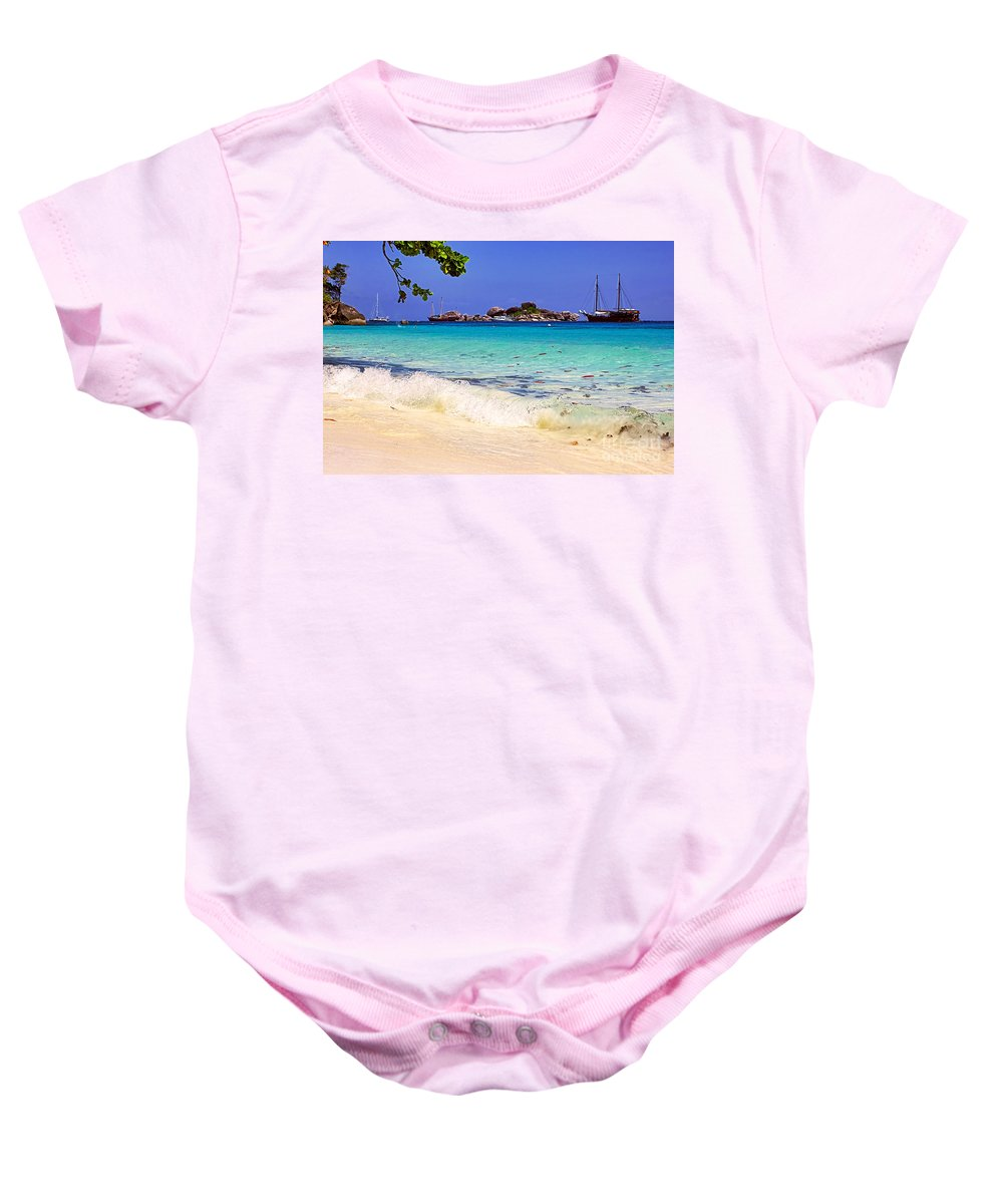 Photography Baby Onesie featuring the photograph Little Paradise by Kaye Menner