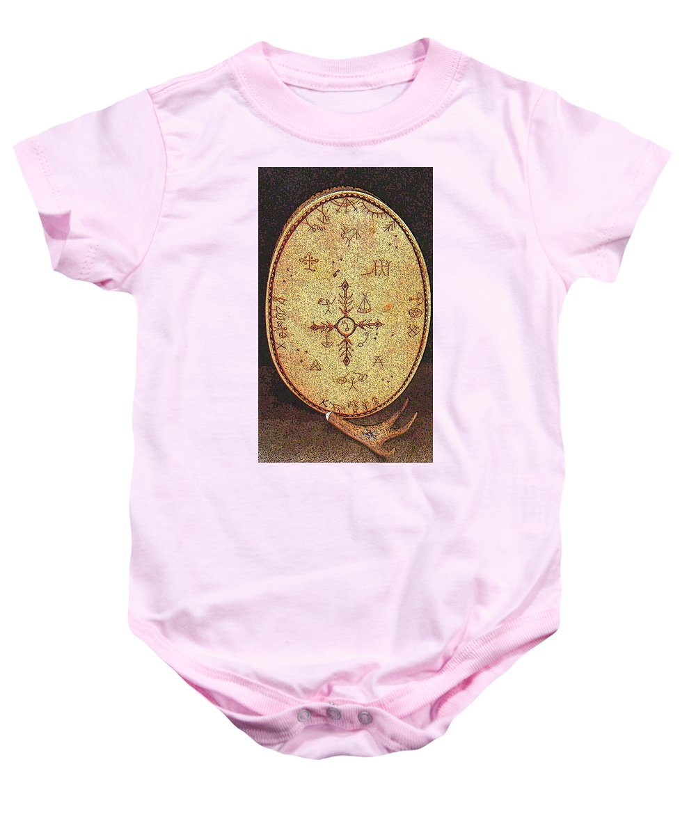 Magic Drum Baby Onesie featuring the photograph Magic Drum by Merja Waters