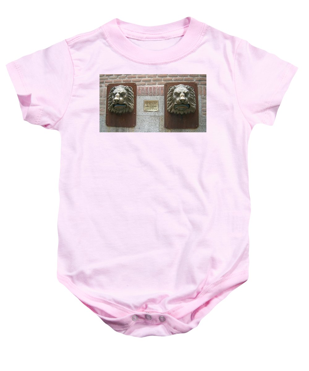 Mailbox Baby Onesie featuring the photograph Mailboxes In Toledo Spain by Valerie Ornstein