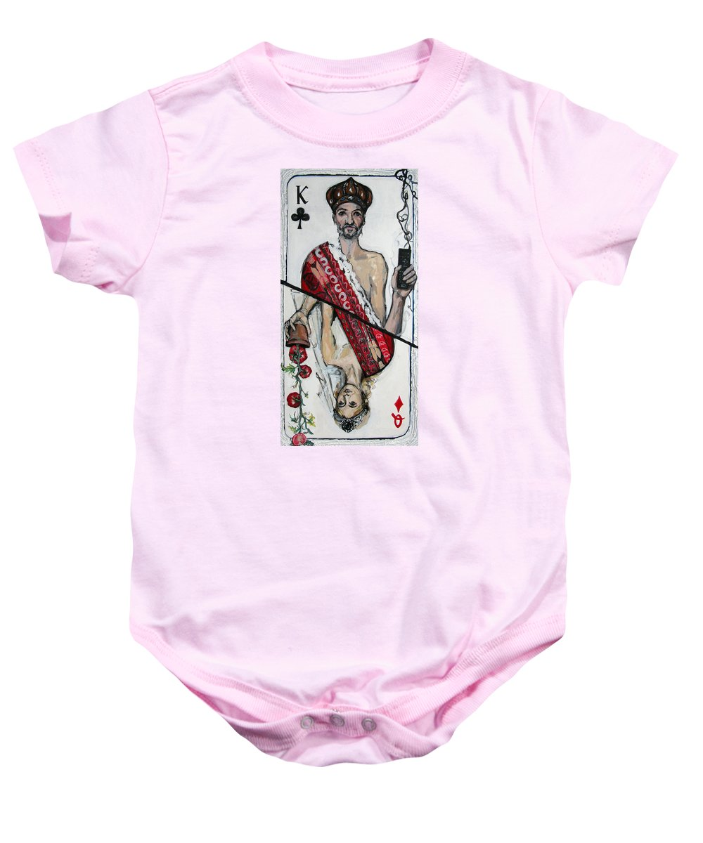 Marriage Baby Onesie featuring the painting Marriage by Mima Stajkovic