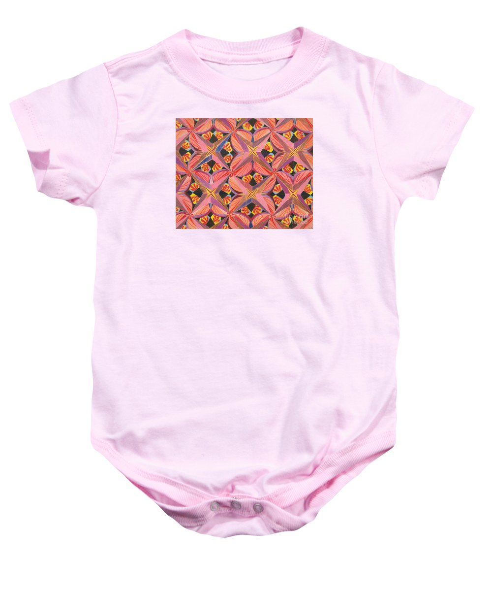 Butterfly Baby Onesie featuring the drawing Monarch by Kim Sy Ok