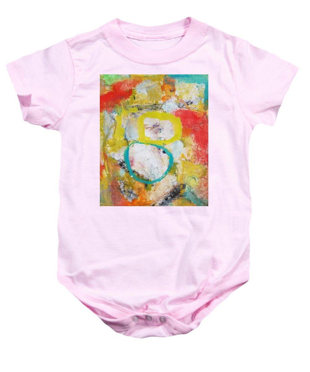 Abstract Baby Onesie featuring the painting Morning Calm by Patricia Byron