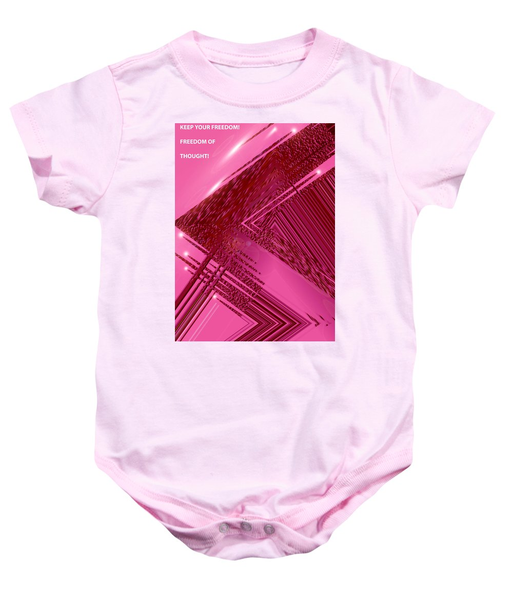 Moveonart! Digital Gallery Baby Onesie featuring the digital art Moveonart Freedom Of Thought One by Jacob Kanduch