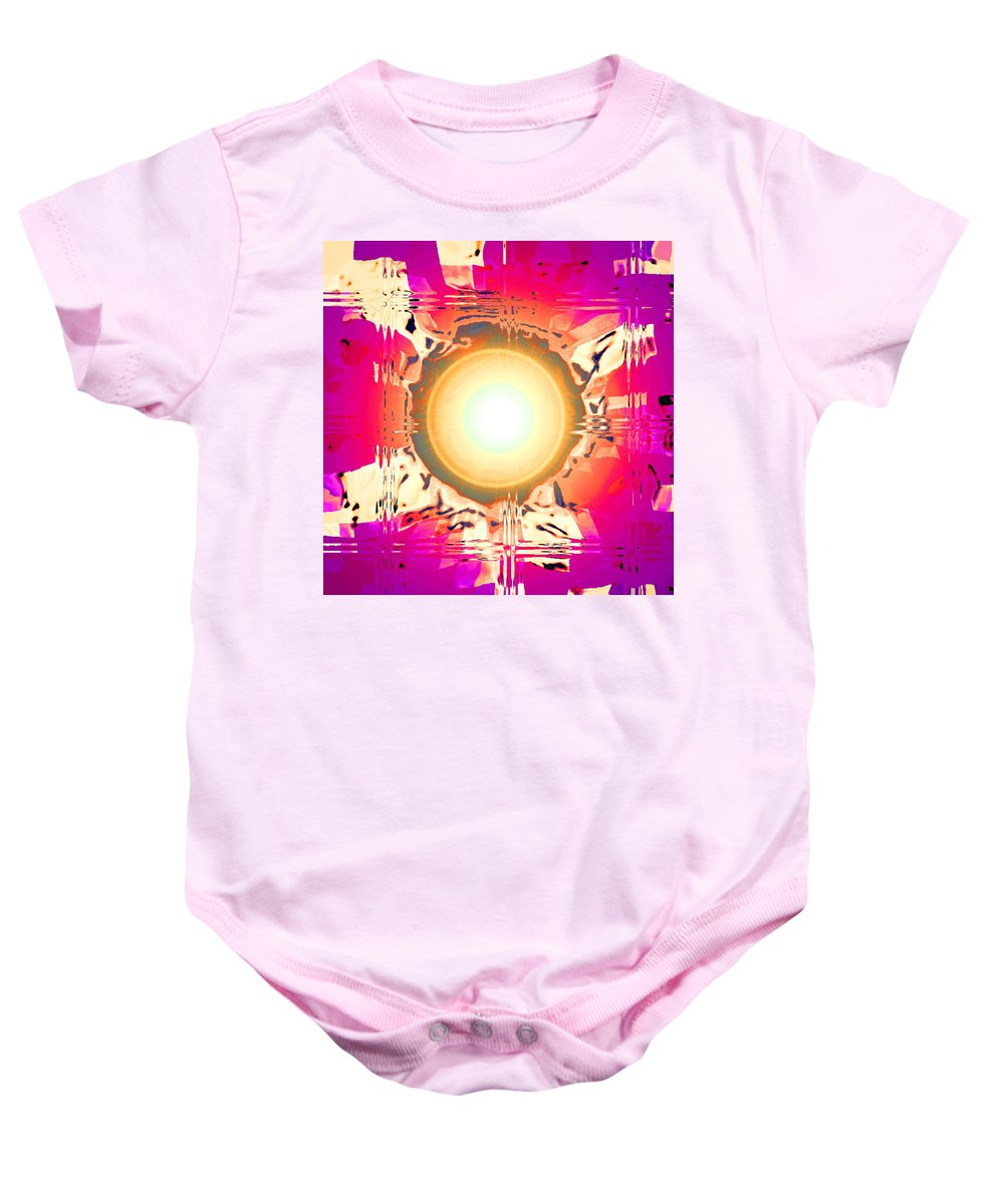 Moveonart! Digital Gallery Baby Onesie featuring the digital art MoveOnArt May This Gift Of Light Help You Along Lifes Way by Jacob Kanduch