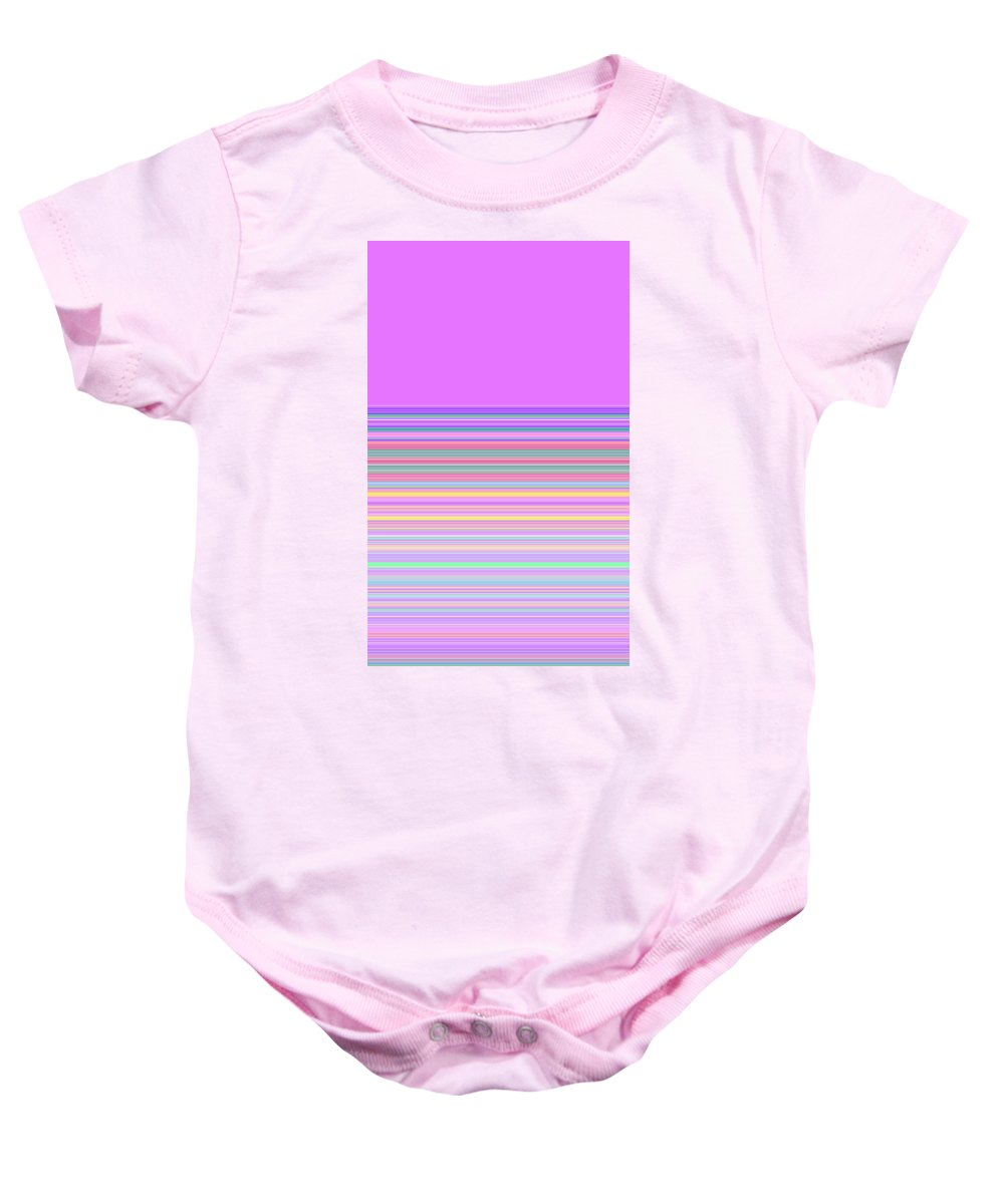 Moveonart Digital Gallery Lower Nob Hill San Francisco California Jacob Kanduch Baby Onesie featuring the digital art Moveonart Minimal Mood In Color 1 by Jacob Kanduch