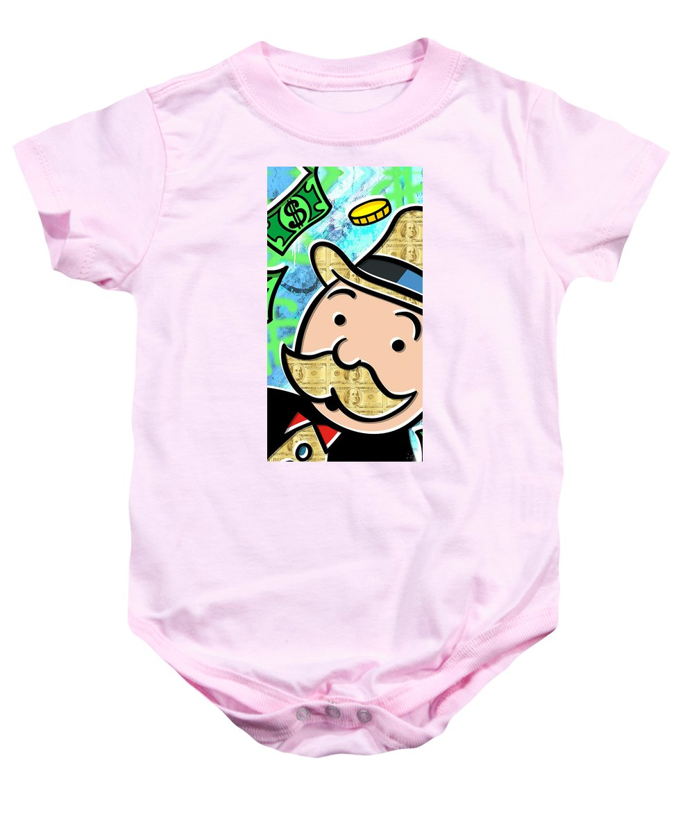 35d05e1b3183 Mr Monopoly Onesie for Sale by Canvas Cultures