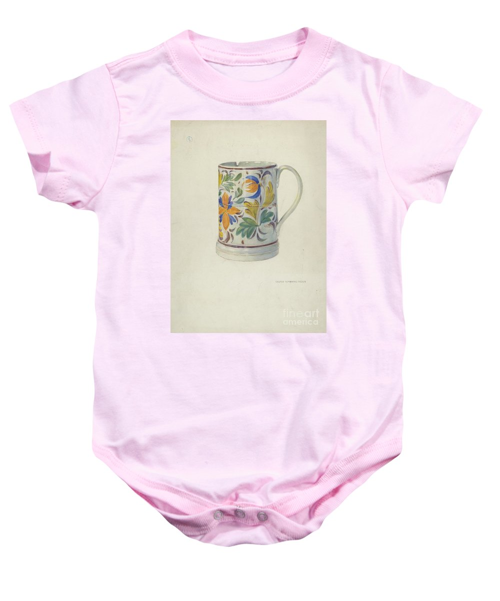 Baby Onesie featuring the drawing Mug by George B. Meyer