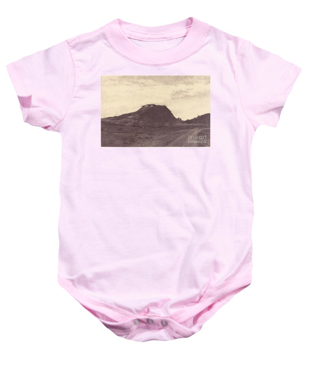 Baby Onesie featuring the photograph Namculdroog: Droog And Tank by Linnaeus Tripe