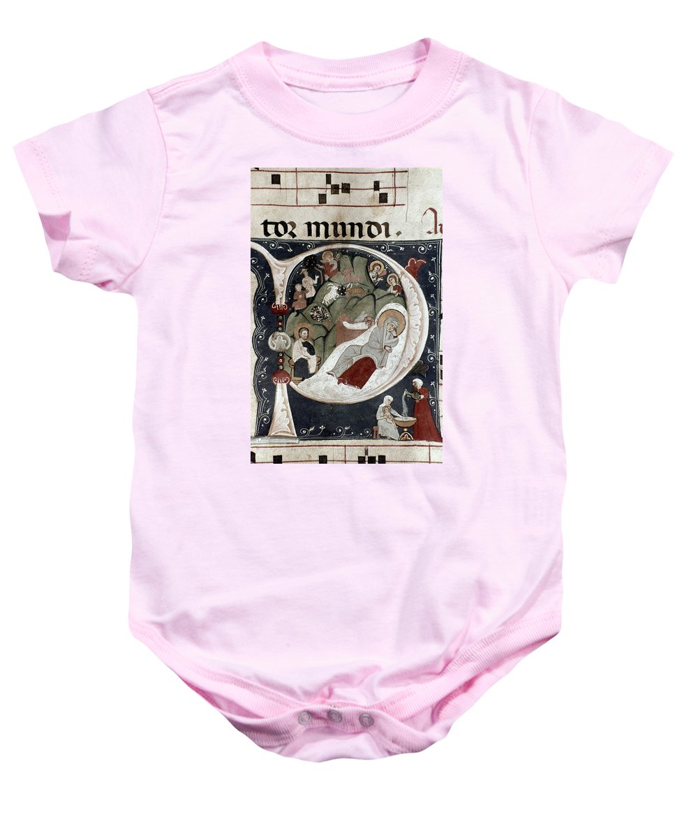 Birth Baby Onesie featuring the photograph Nativity/croatian by Granger