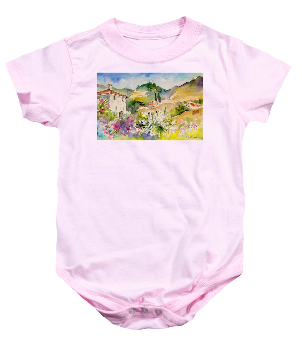 Travel Baby Onesie featuring the painting Nerja 01 by Miki De Goodaboom