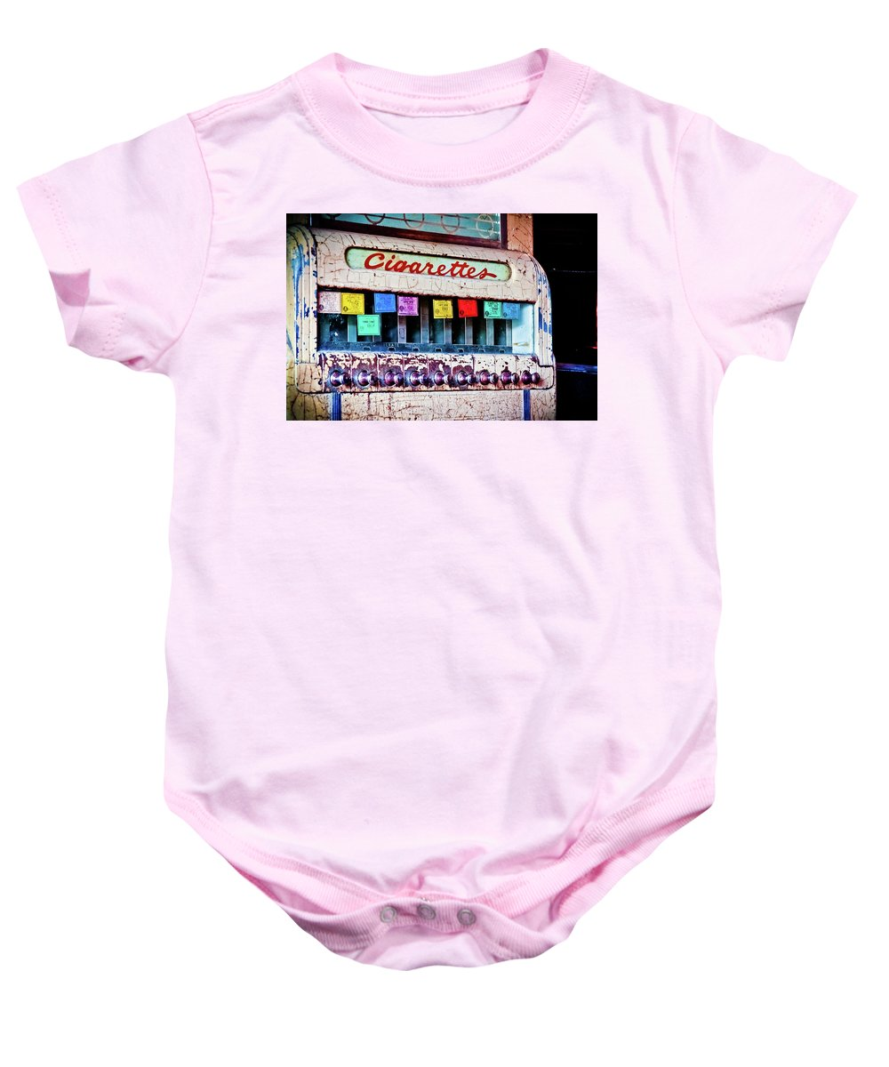 Color Baby Onesie featuring the photograph No Smoking by Jill Smith