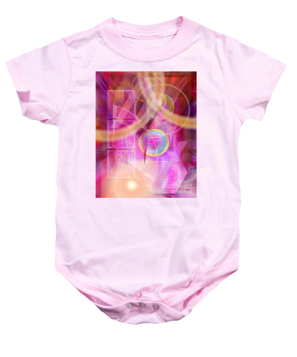 Northern Lights Baby Onesie featuring the digital art Northern Lights by John Beck