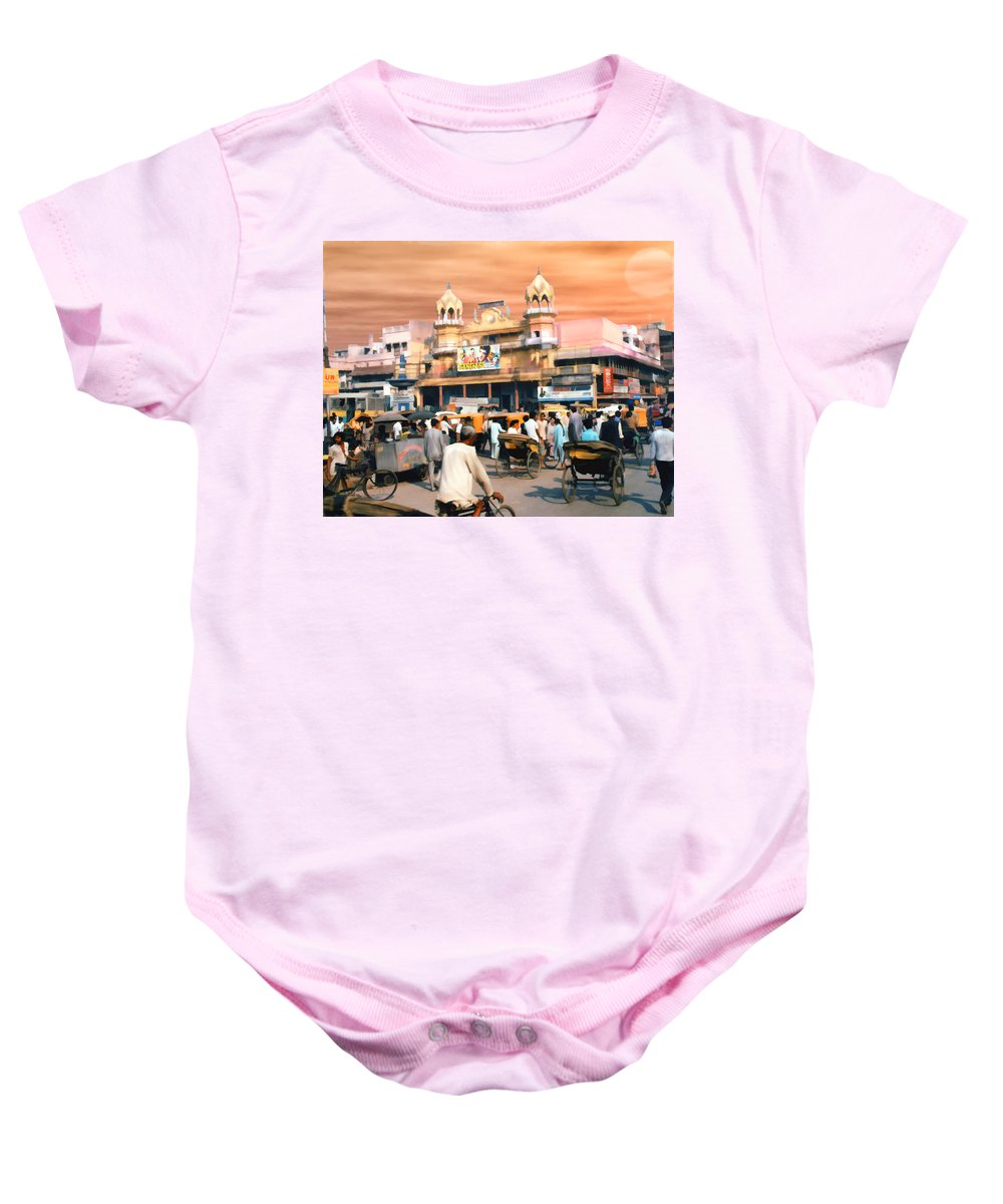 India Baby Onesie featuring the photograph Old Dehli by Kurt Van Wagner