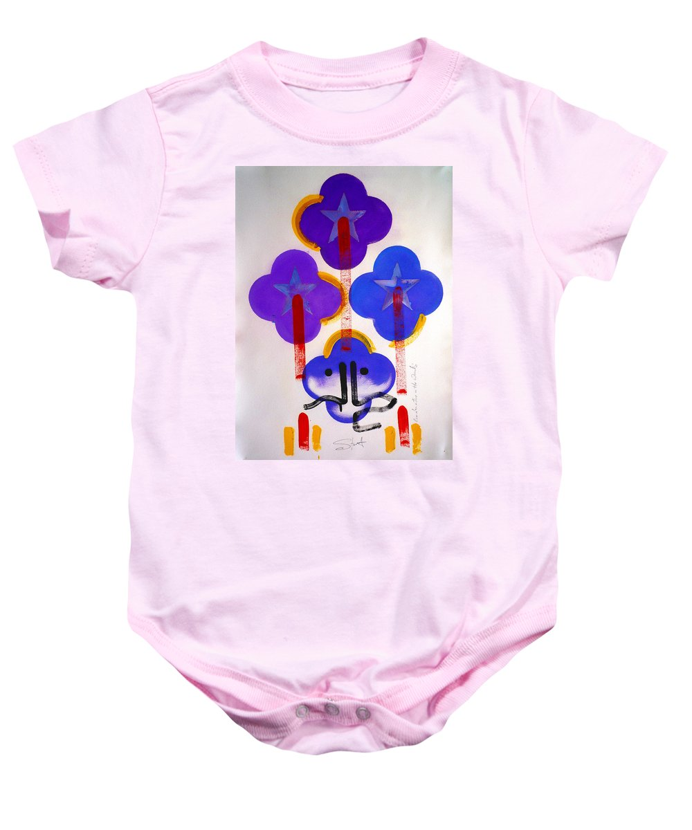 Drawing Baby Onesie featuring the painting Once Upon-a-time In The Woods by Charles Stuart