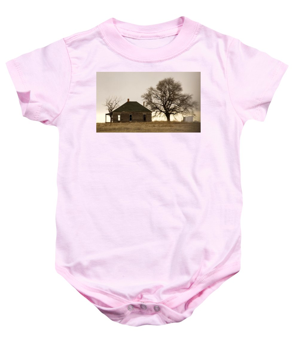 Americana Baby Onesie featuring the photograph Once Upon A Time In West Texas by Marilyn Hunt