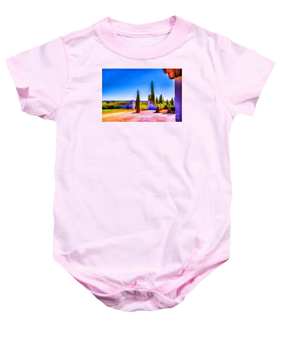 Portugal Vineyards Baby Onesie featuring the photograph Open Gate by Rick Bragan
