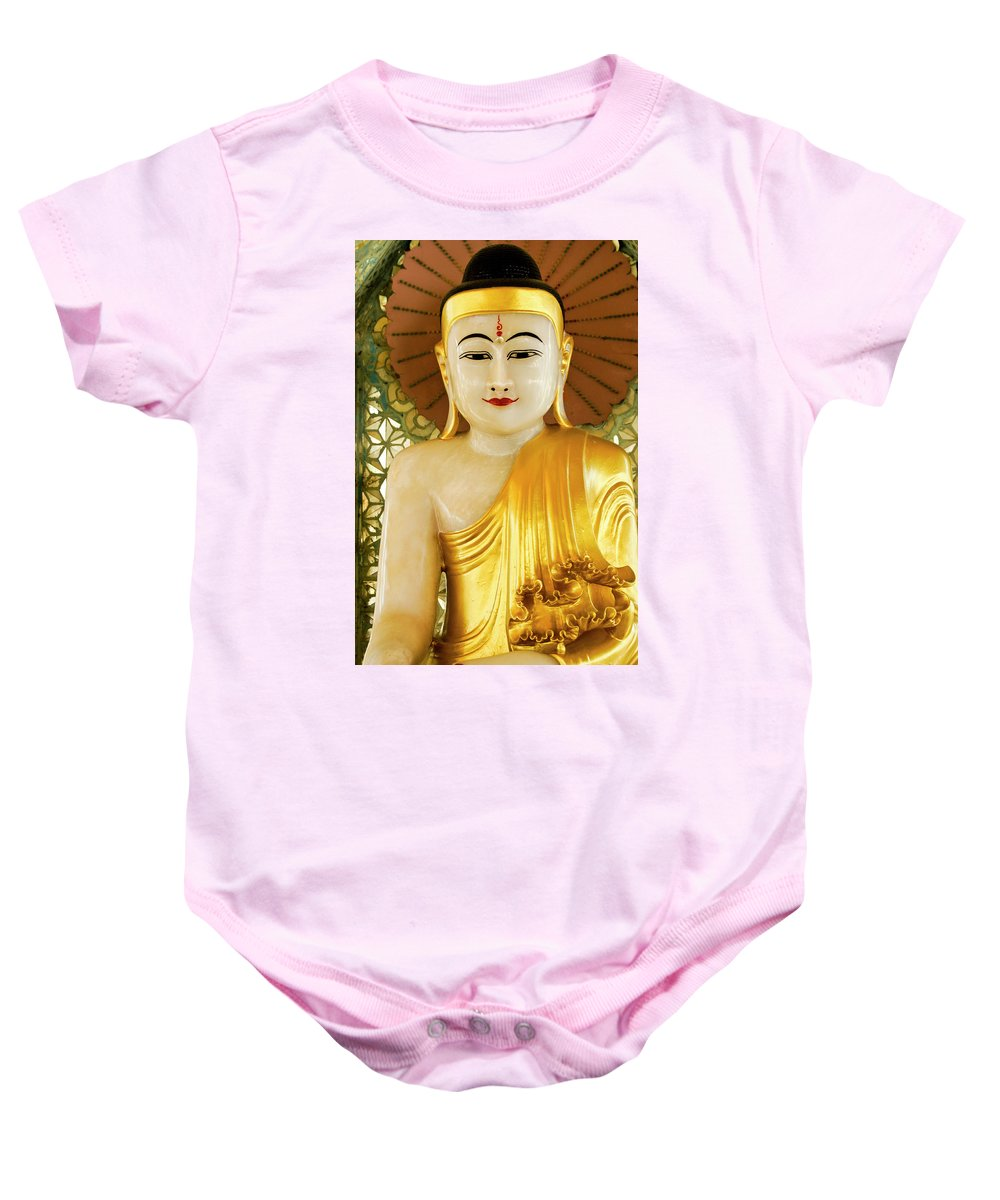 Asia Baby Onesie featuring the photograph Peaceful Buddha by Michele Burgess