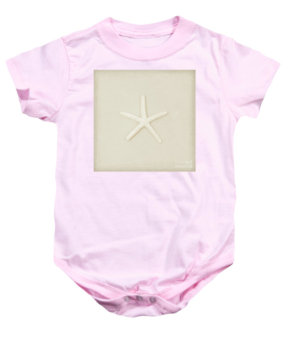 Starfish Print Baby Onesie featuring the photograph Pecil Starfish by Lucid Mood