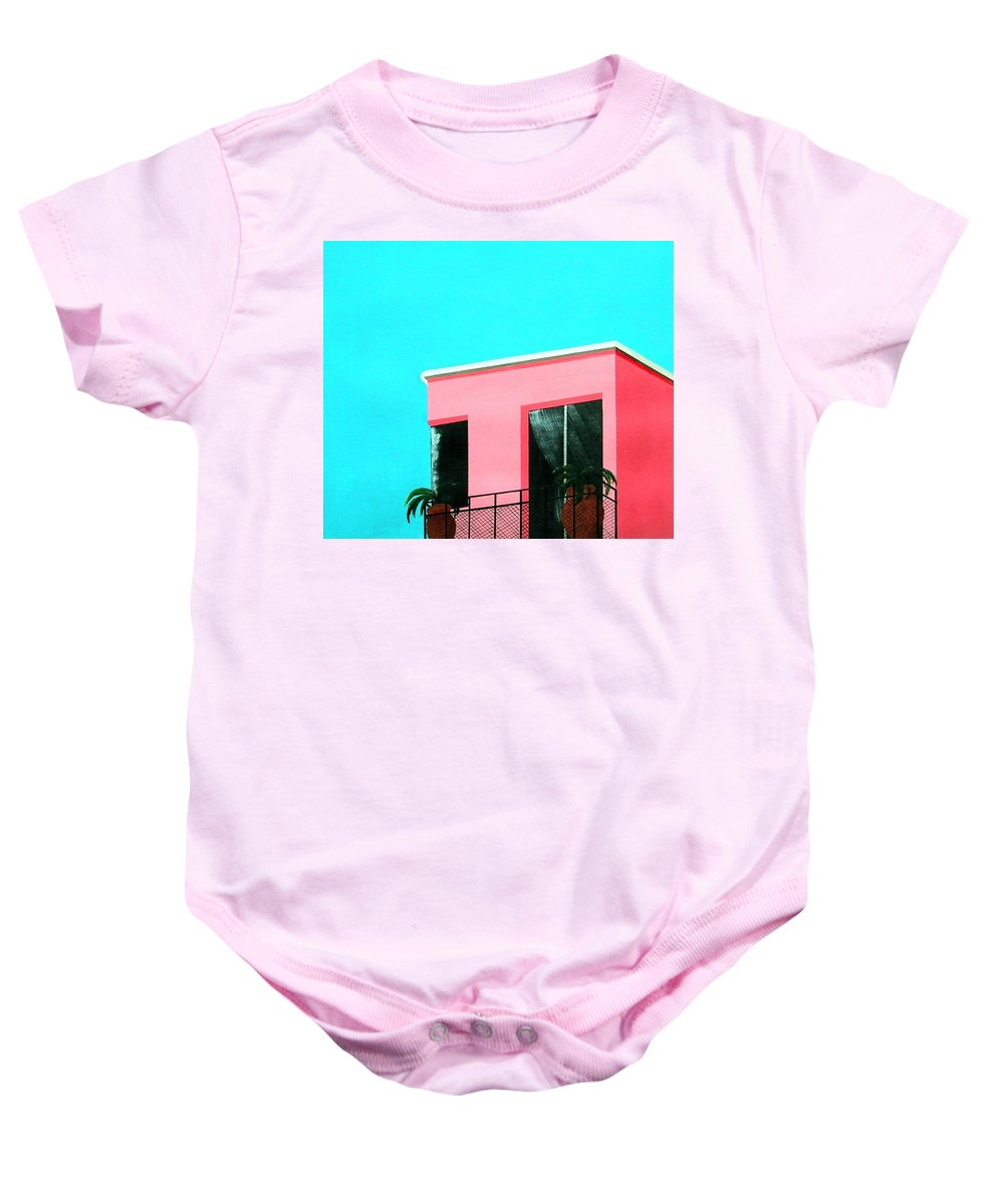 Modern Baby Onesie featuring the painting Penthouse by Tony Gunning