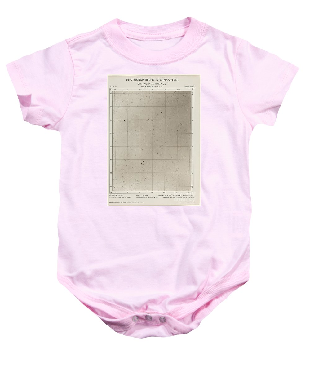 Baby Onesie featuring the photograph Photographische Sternkarten (march 2, 1906) by Max Wolf And Joh. Palisa