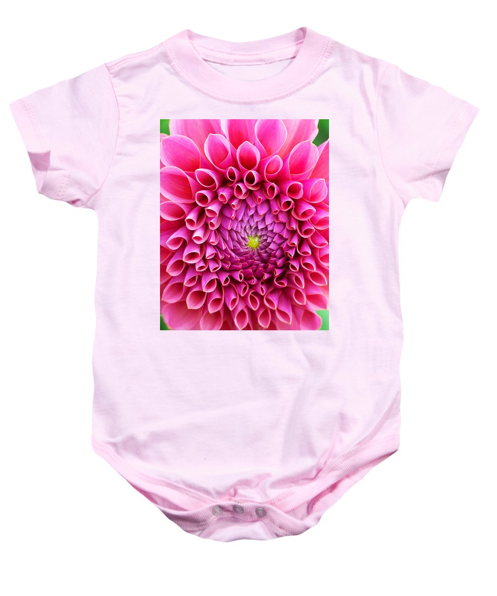 Flower Baby Onesie featuring the photograph Pink Flower Close Up by Anthony Jones