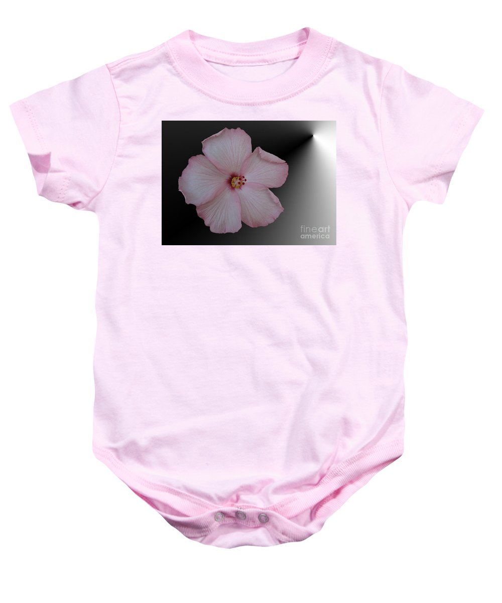 Hibiscus Baby Onesie featuring the digital art Pink Hibiscus by Donna Brown