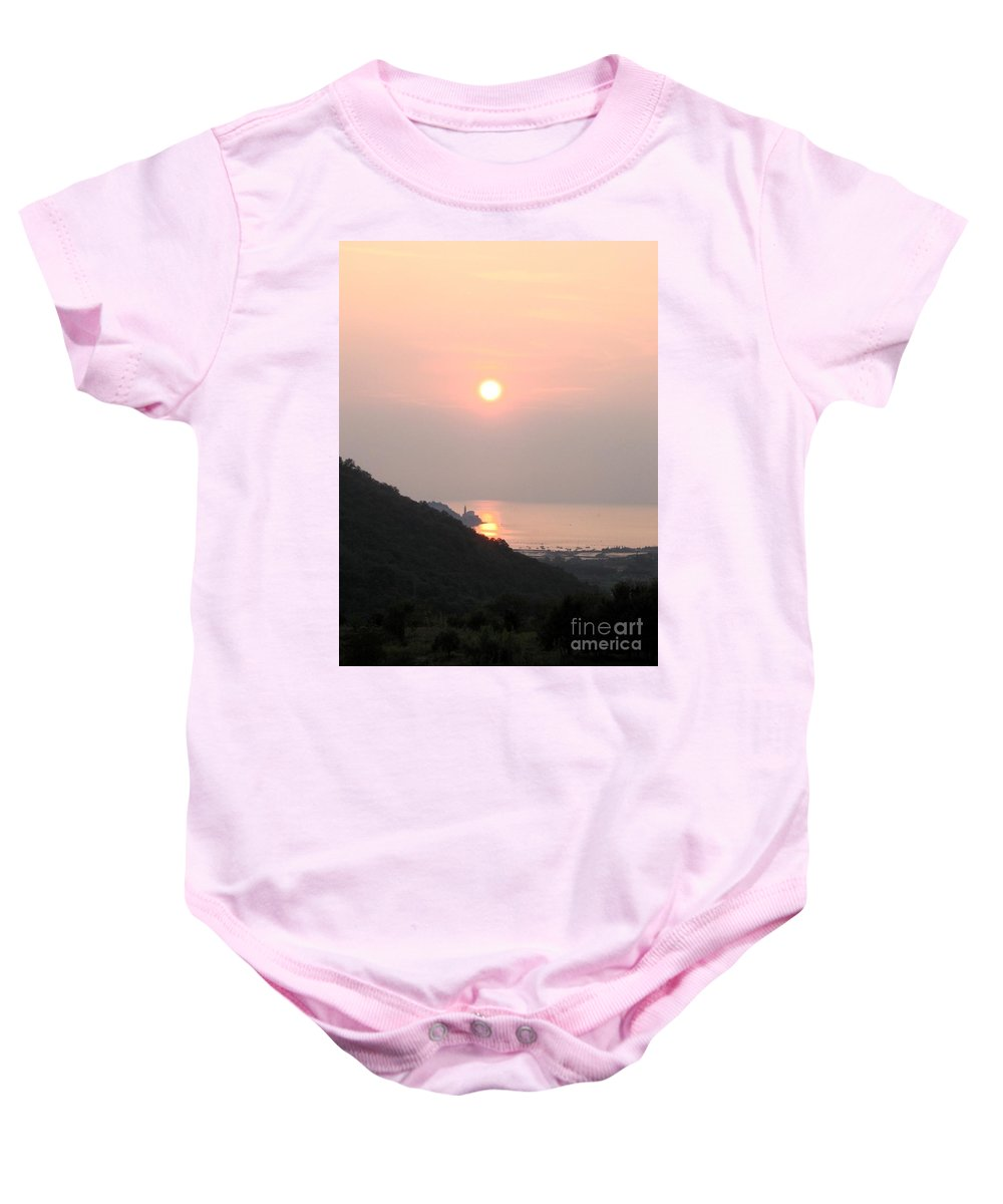 Sunset Baby Onesie featuring the photograph Piran's Sunset II by Dragica Micki Fortuna