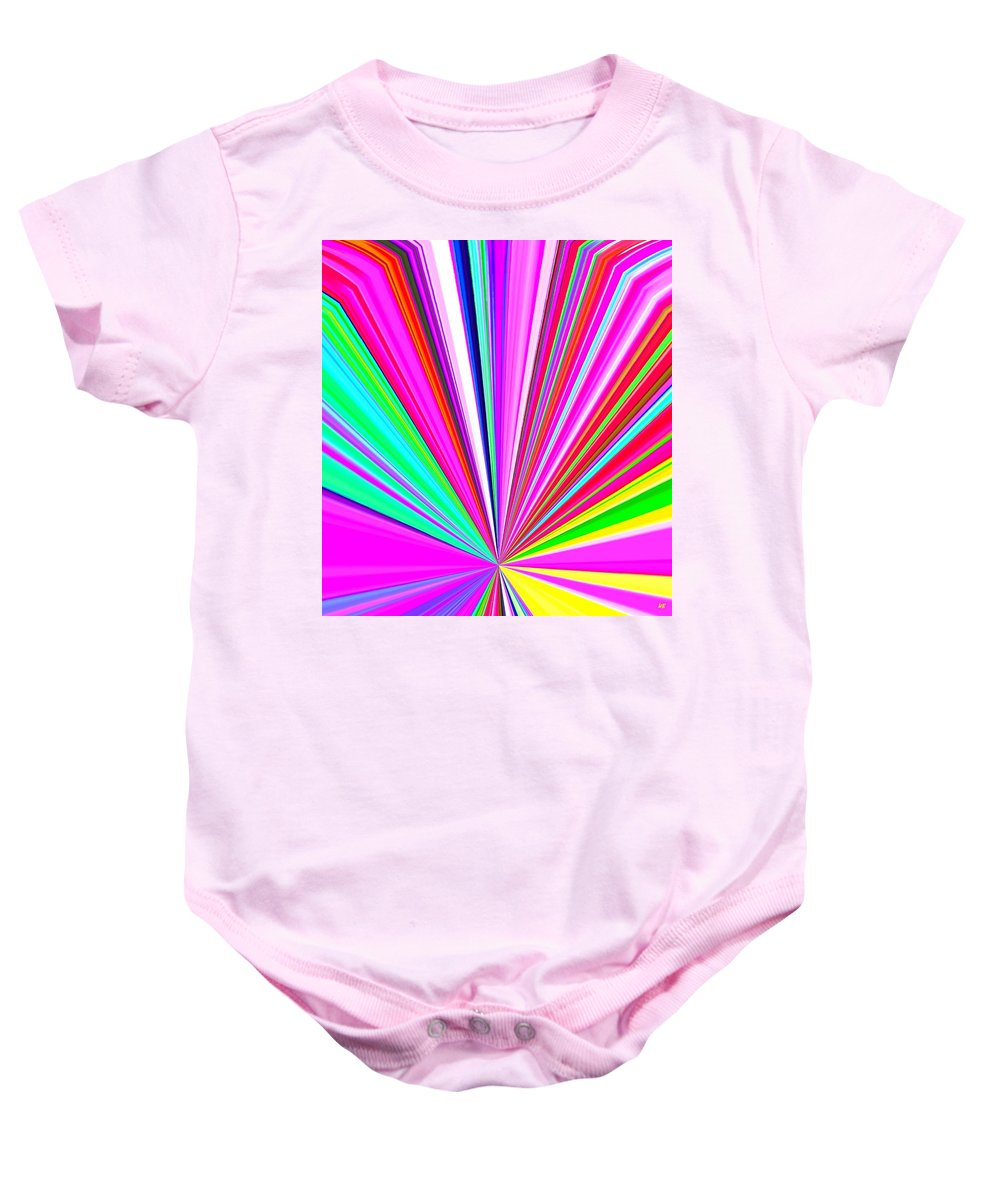 Abstract Baby Onesie featuring the digital art Pizzazz 11 by Will Borden