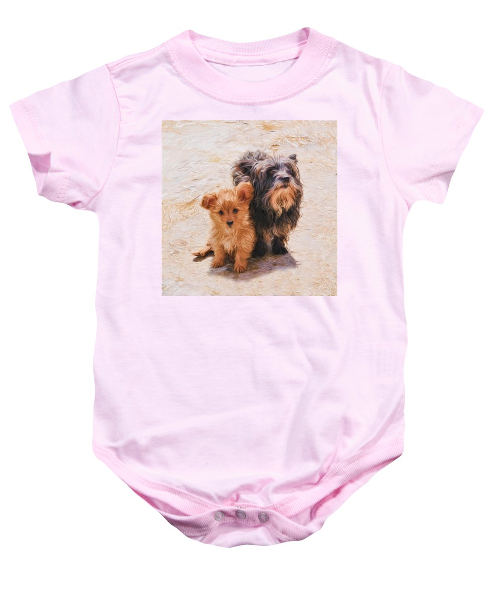 Puppy Baby Onesie featuring the digital art Please Take Me Home 2 by Roy Pedersen