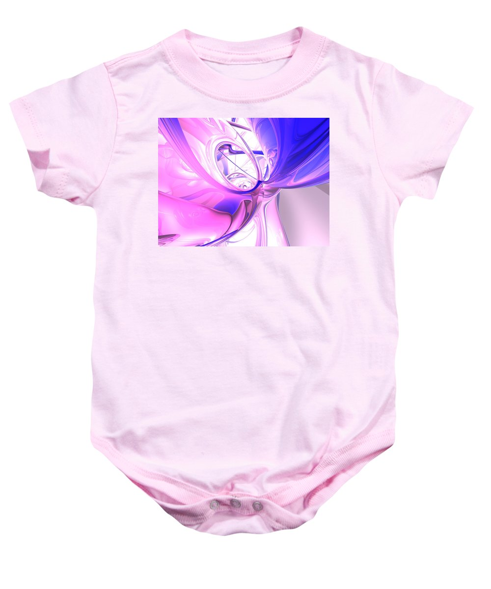 3d Baby Onesie featuring the digital art Plum Juices Abstract by Alexander Butler