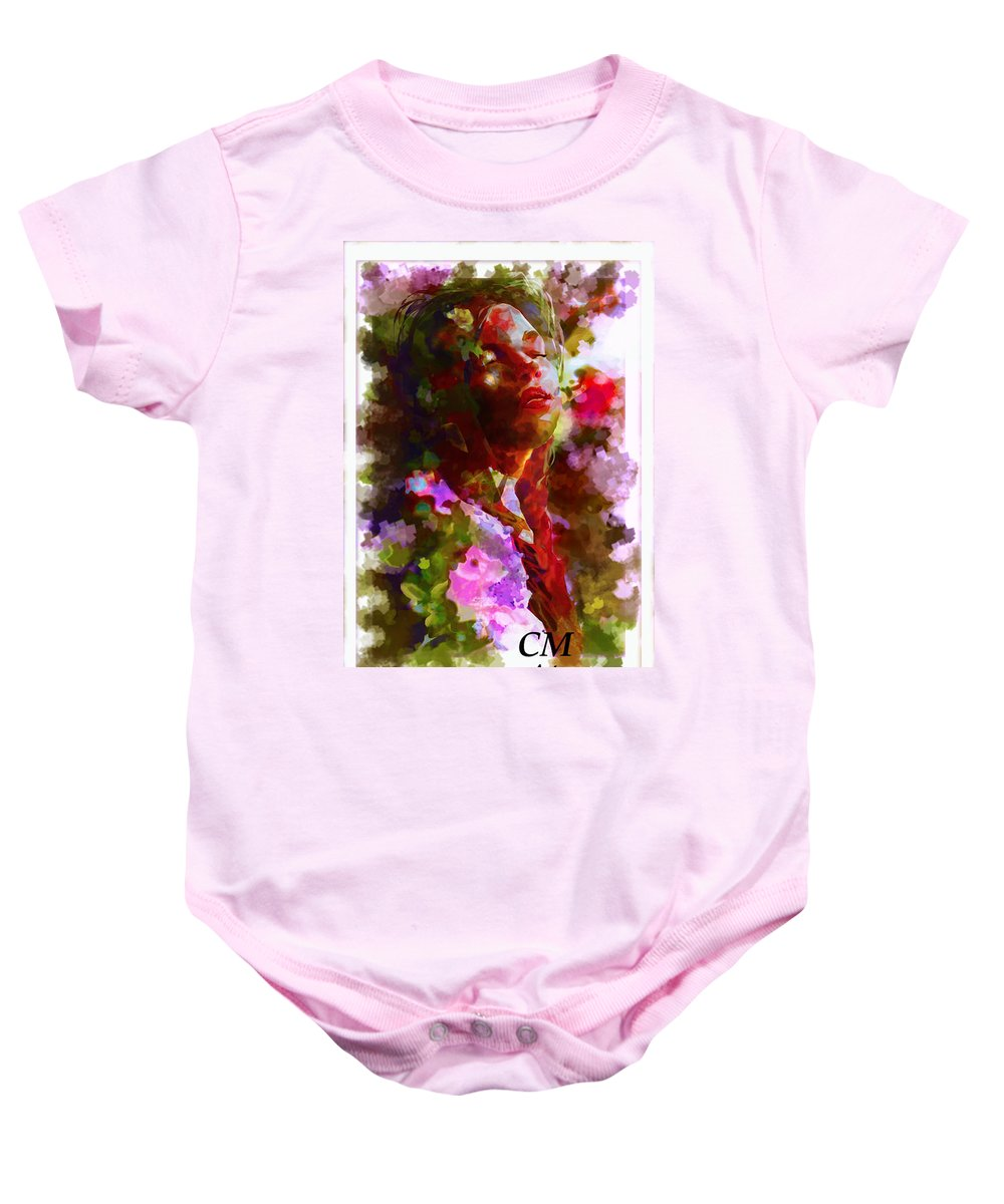 Digital Portrait Painting Baby Onesie featuring the painting Portrait 8 by Carrley Mason