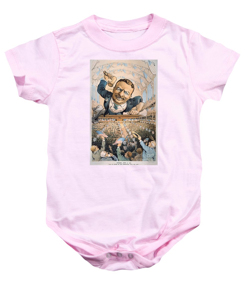 1904 Baby Onesie featuring the photograph Presidential Campaign, 1904 by Granger