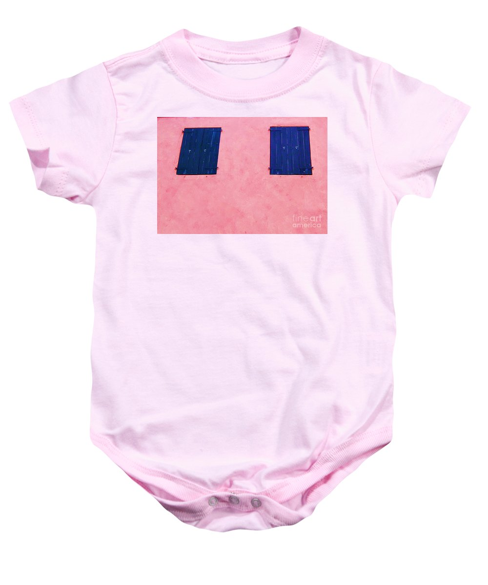 Shutters Baby Onesie featuring the photograph Pretty In Pink by Debbi Granruth
