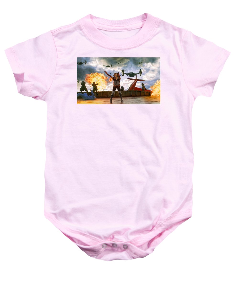 Comics Baby Onesie featuring the digital art Project Alice by Don Kuing