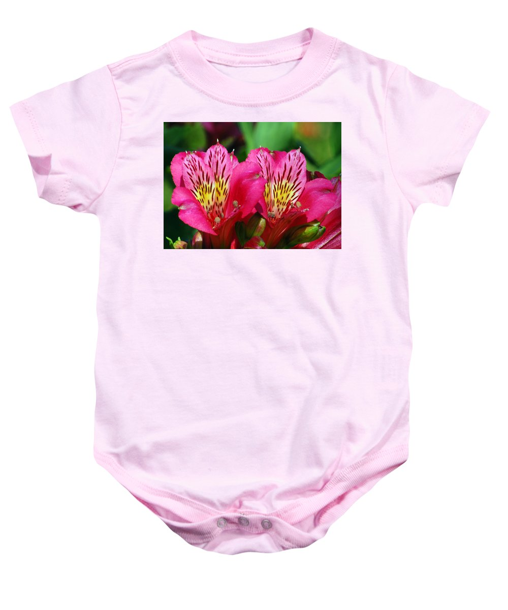Peruvian Baby Onesie featuring the photograph Purple Peruvian Lily by Amy Fose