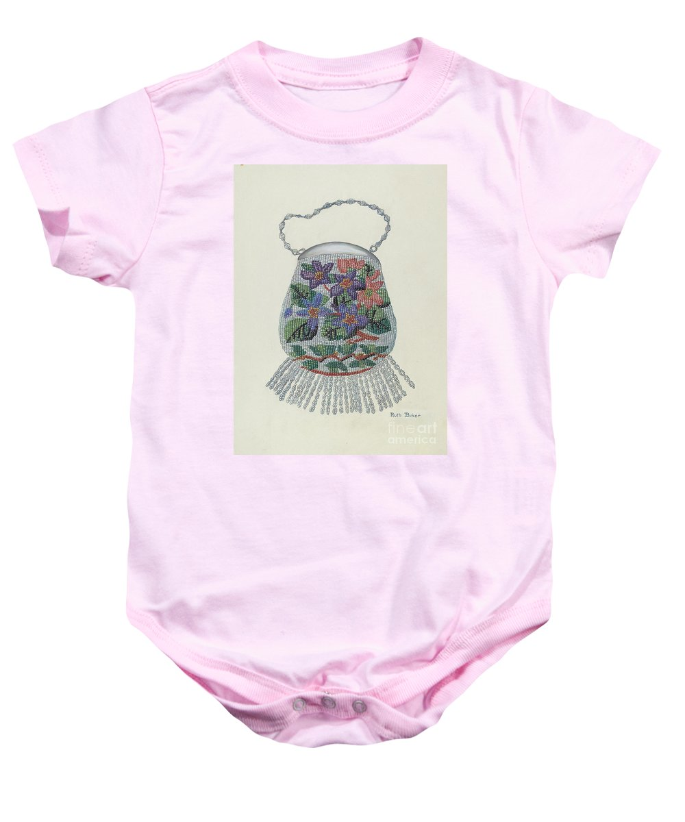 Baby Onesie featuring the drawing Purse by Ruth Buker