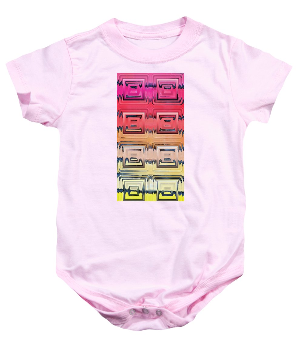 Block Glass Baby Onesie featuring the photograph Rainbow Glass by Donna Bentley