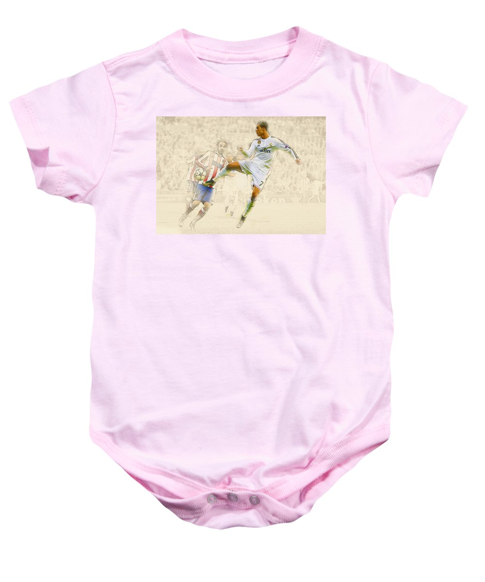 be6adeb25 Angel Di Maria Baby Onesie featuring the digital art Real Madrid V Atletico  Madrid by Don