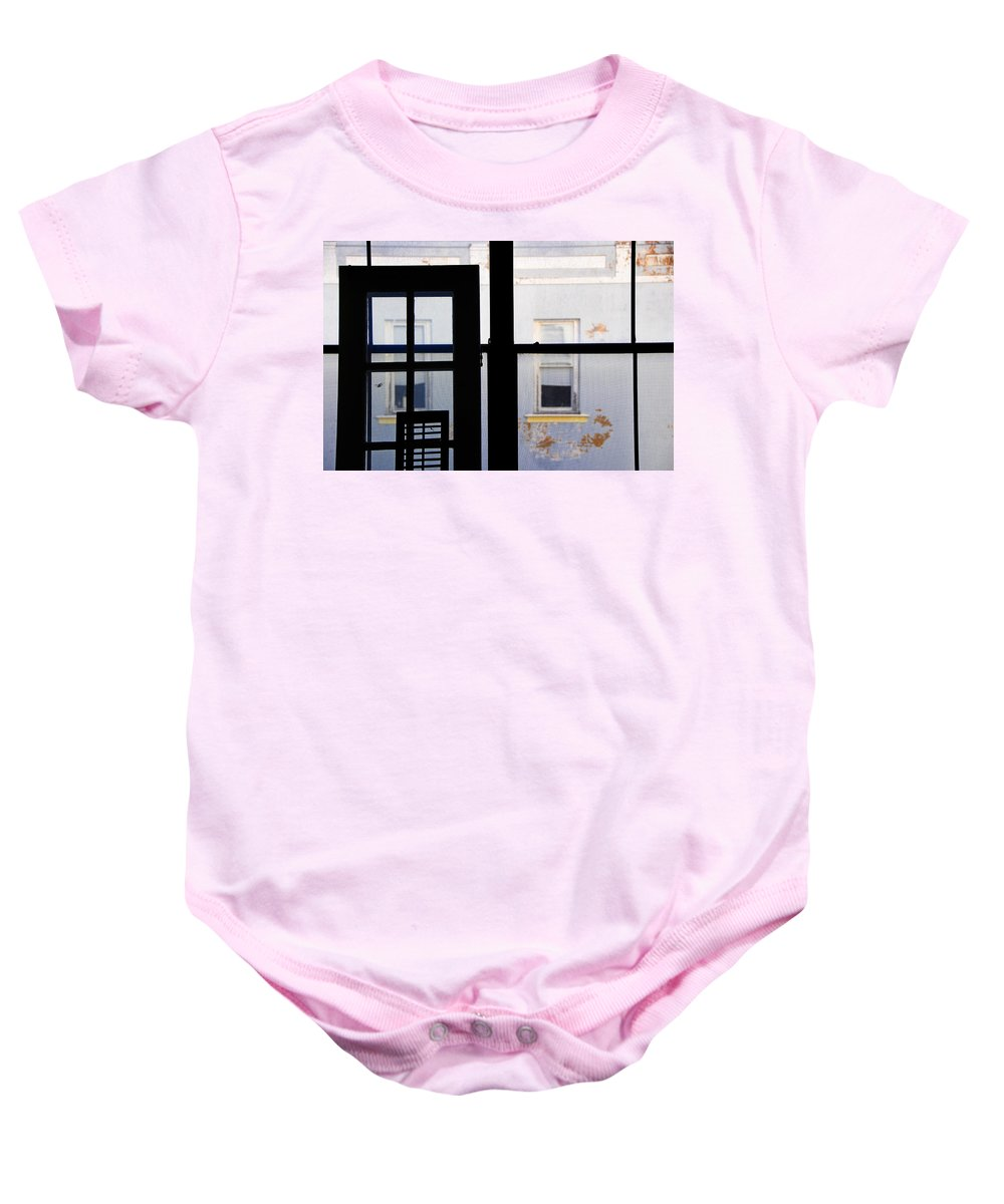 Architecture Baby Onesie featuring the photograph Rear Window 3 by Skip Hunt